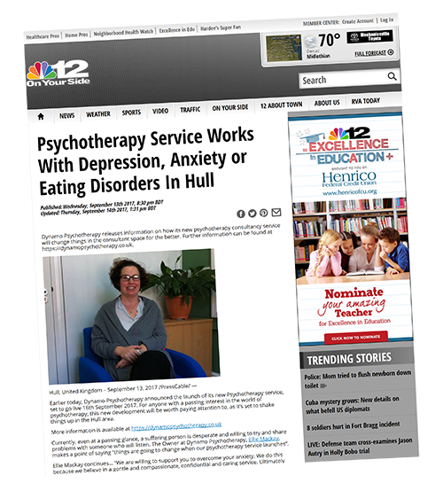 Psychotherapy Hull in the Media